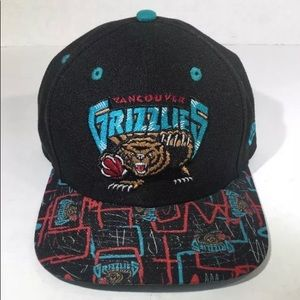 Vancouver Grizzlies Hat Teal and Black